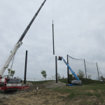 Steel pole extension installation