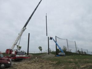 Steel pole extension installation