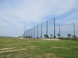 Completed Golf Driving Range Netting Installation