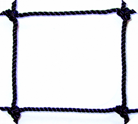"#30 X 1-3/4"" SQUARE MESH BLACK BONDED KNOTTED NYLON"